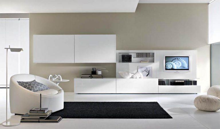 Мебель белого цвета для гостиной