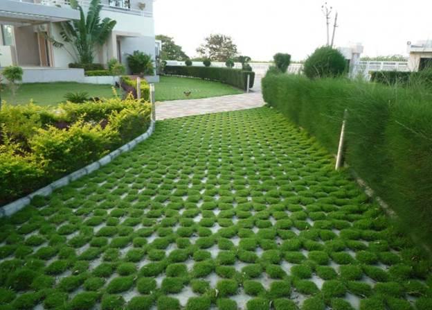 Преимущества применения газонной решетки