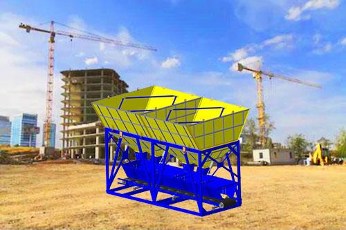 Использование дозирующего комплекса инертных компонентов бетонной смеси