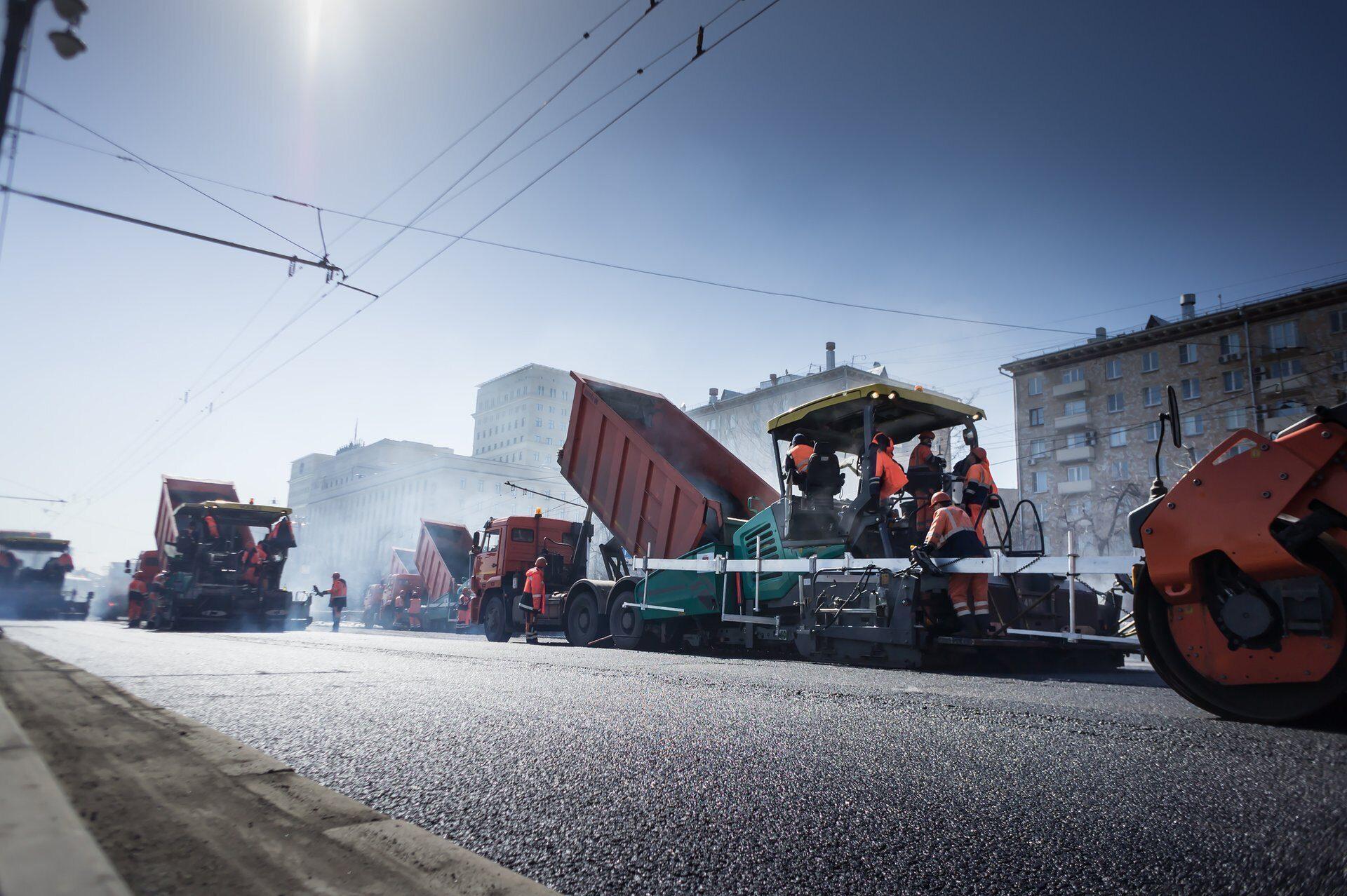 Услуги по асфальтированию дорог в Москве