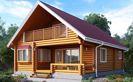 Деревянные дома из оцилиндрованного бревна «под ключ»