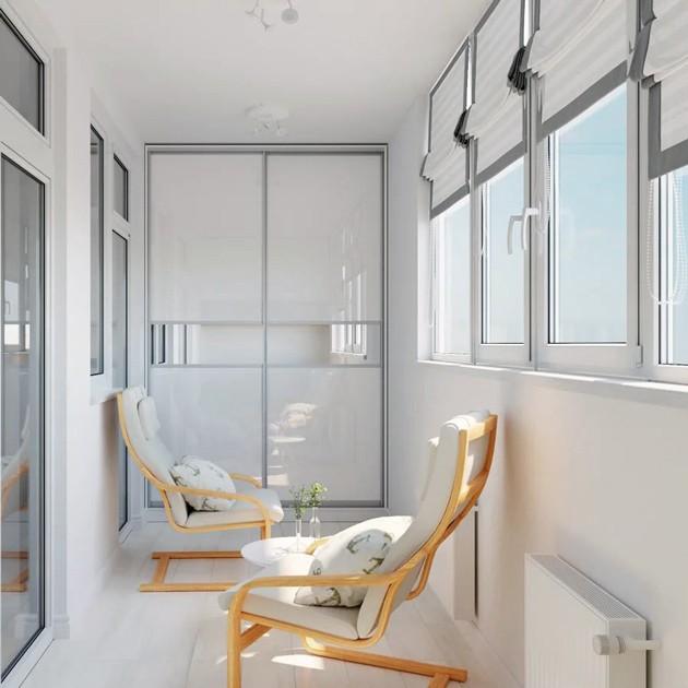 Услуга по отделке балконов и лоджий